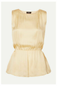 Theory - Silk-satin Top - Pastel yellow