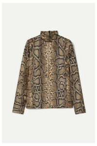 Victoria Beckham - Snake-print Silk Top - Snake print