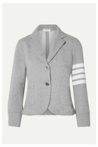 Thom Browne - Striped Cotton-jersey Blazer - Light gray