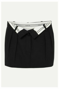Alexander Wang - Fold-over Wool Mini Skirt - Black