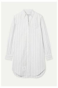 Thom Browne - Striped Cotton Oxford Mini Dress - White
