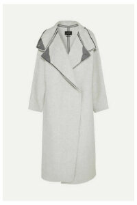 Isabel Marant - Relton Oversized Brushed Wool-blend Coat - Light gray