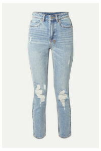 Ksubi - Slim Pin Distressed High-rise Skinny Jeans - Light denim