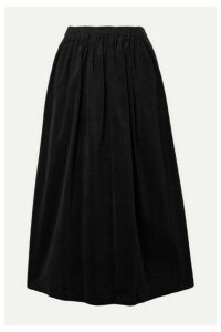 Atlantique Ascoli - Cotton-corduroy Midi Skirt - Black