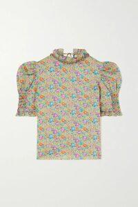 Etro - Tie-dyed Paisley-print Silk-chiffon Blouse - Beige