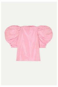 Nackiyé - Lolita Ruched Silk-taffeta Blouse - Pink