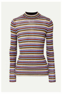 Missoni - Striped Metallic Crochet-knit Top - Purple
