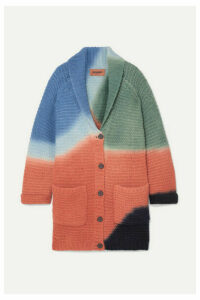 Missoni - Color-block Ribbed Alpaca-blend Cardigan - Orange