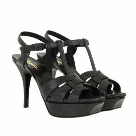 Saint Laurent Sandals - Tribute 75 Platform Sandals Goudron - black - Sandals for ladies