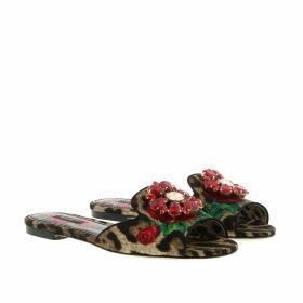 Dolce&Gabbana Sandals - Leo Print Slides Rose/Red - red - Sandals for ladies