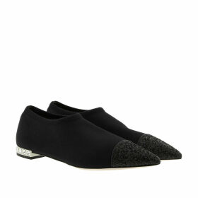 Miu Miu Ballerinas - Knit and Glitter Slipper Black - black - Ballerinas for ladies