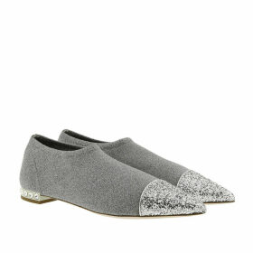 Miu Miu Loafers & Slippers - Lamé Knit Glitter Slippers Silver - silver - Loafers & Slippers for ladies