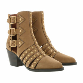 Coach Boots & Booties - Pheobe Studded Bootie Suede Peanut - cognac - Boots & Booties for ladies