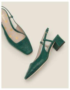 Kiera Heeled Slingbacks Green Women Boden, Green