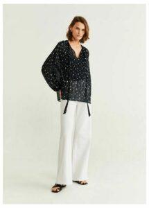 Sheer flower blouse
