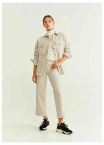 Buttoned corduroy overshirt