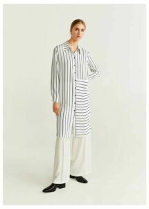 Print long blouse