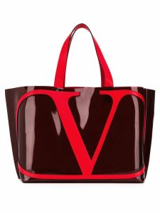 Valentino Valentino Garavani VLOGO beach bag - Red