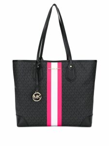 Michael Michael Kors logo print shoulder bag - Black