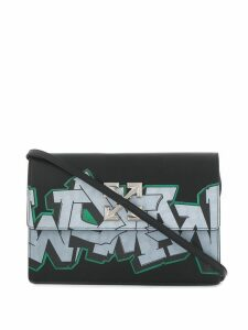 Off-White Jitney graffiti bag - Black