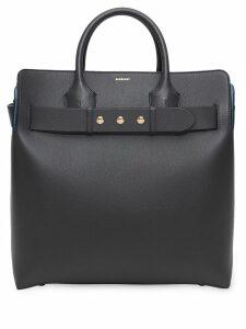 Burberry the large leather triple stud belt bag - Grey