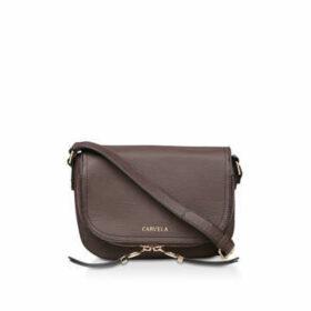 Carvela Soula Saddle Zip Cross Body - Brown Cross Body Bag