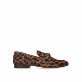 Kurt Geiger London Chelsea Loafer - Leopard Print Eagle Embellished Loafers