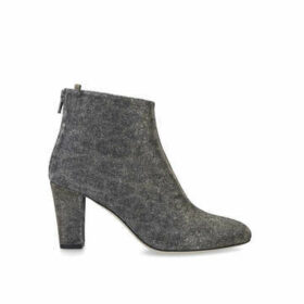 Sarah Jessica Parker Minnie 75 - Silver Block Heel Ankle Boots