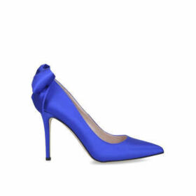 Sarah Jessica Parker Lucille - Blue Satin Stiletto Heel Court Shoes