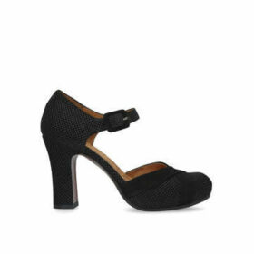 Chie Mihara Dara - Black Platform Heel With Ankle Strap.
