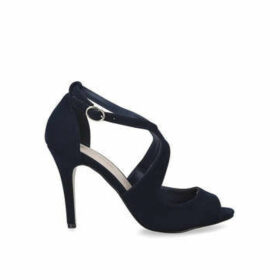 Miss KG Natty - Navy Stiletto Heel Peep Toe Sandals