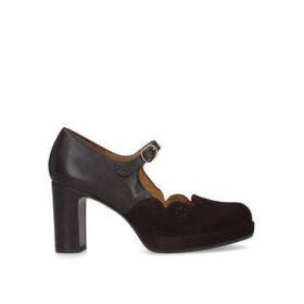 Chie Mihara Julieta - Dark Red Block Heel Court Shoes