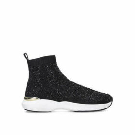 Carvela Jibberish Bling - Black Embellished Sock Trainers