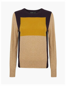 Autograph Pure Cashmere Colour Block Jumper