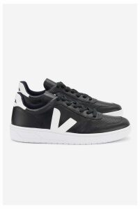 Veja V10 Leather Black White Sole - 40 Black