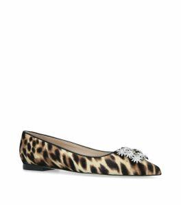 Leopard Print Kelsey Strass Flats
