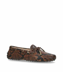 Snake Print Driving Shoes