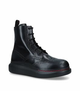 Leather Hybrid Combat Boots