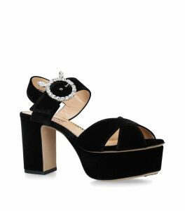 Kitty Strass Platform Sandals 85