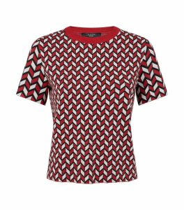 Geometric Print Knitted Top