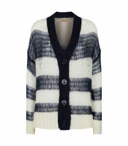Open-Weave Stripe Cardigan