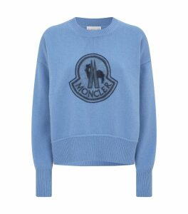 Wool-Cashmere Logo Sweater