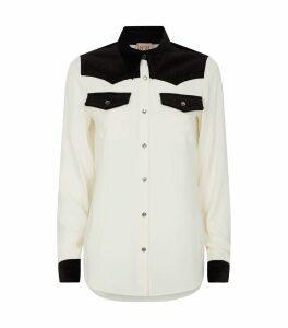 Western Cord Trim Shirt