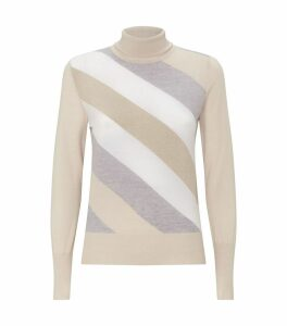 Multi-tonal Stripe Rollneck Sweater
