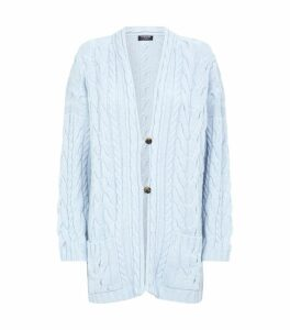 Cable Knit Cashmere Cardigan