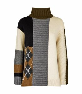 Patchwork Rollneck Sweater