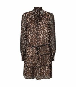 Leopard-Print Pussybow Cleobelle Dress