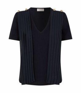 Pleated Tie T-Shirt