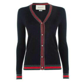 Gucci Web Knit Cardigan