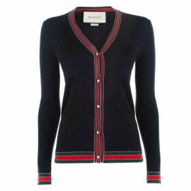 Gucci Web Knit Cardigan